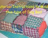 Ashlawnfarms Rag Quilt Dog Bed Tutorial Instructions PDF download