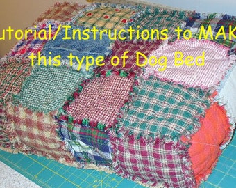 Ashlawnfarms Rag Quilt Dog Bed Tutorial Instructions PDF download