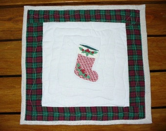 Christmas Stocking Mini Quilt