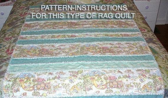 Ashlawnfarms Toile Strip Rag Quilt Pattern Instructions PDF : easy rag quilt patterns - Adamdwight.com