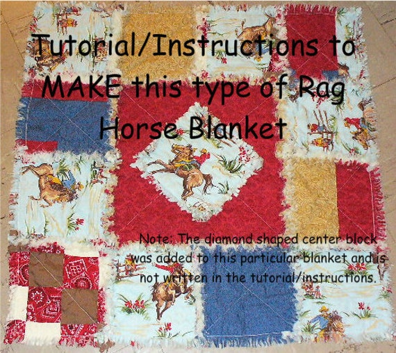Ashlawnfarms Rag Quilt Baby or Horse Blanket Tutorial