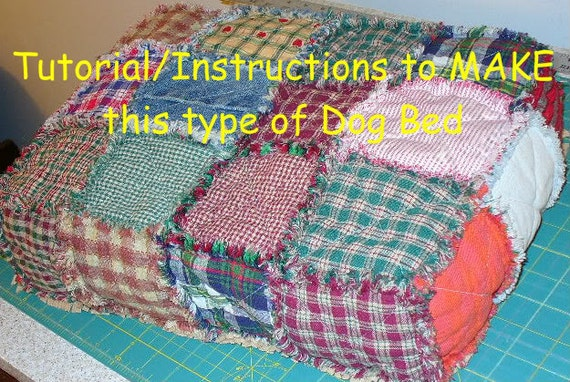 Ashlawnfarms, Rag Quilt Dog Bed, Dog Bed Tutorial, DIY, Instructions, Pattern PDF download