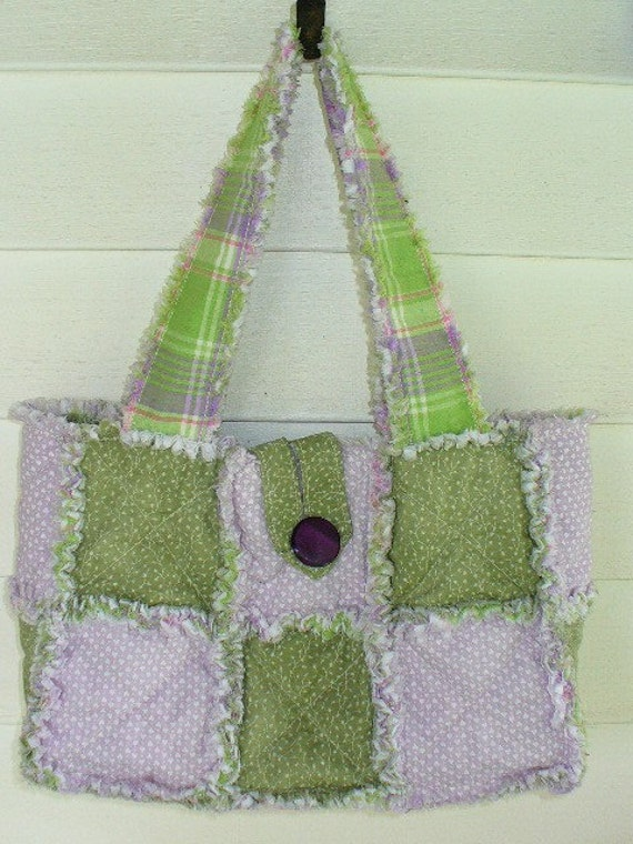Rag Quilted Handbag Pattern : Rag Quilt PURSE PATTERN INSTRUCTIONS to make your own bag tote