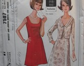 Vintage McCall's pattern  7587 junior dress and jacket size 9 - 11