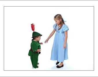BBD custom boutique WENDY dress COSTUME Peter Pan custom sizes 2 3 4 5 6 8 10