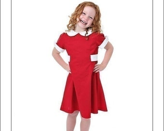 Custom boutique red LITTLE ORPHAN dress costume 2 3 4 5 6 8 10