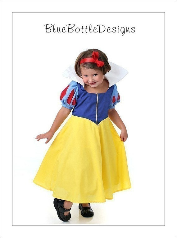 Boutique SNOW WHITE princess dress costume custom sizes 2 3 4 5 6 7 8 Disney