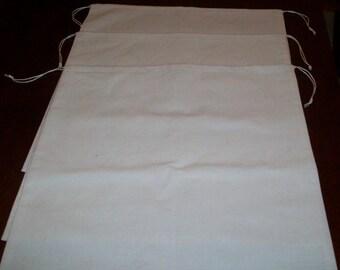 4 Large Reusable Drawstring Cotton Muslin Bulk Grains Nuts Produce Storage Bags
