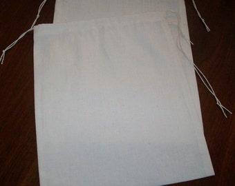 3 Sizes Reusable Drawstring Cotton Muslin Bulk Grains Nuts Produce Bags