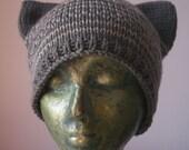 Shetland Tabby Knitted Kitten Hat