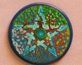 SEASONS PENTAGRAM Talisman Amulet Witch Wicca Pagan Gothic
