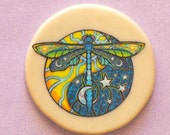 COSMIC DRAGONFLY Talisman Amulet Witch Wicca Pagan Gothic OOAK