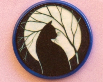 CAT Full Moon Talisman Amulet Witch Wicca