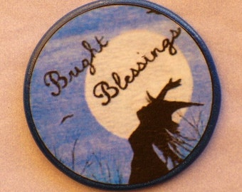 BRIGHTEST BLESSINGS Full Moon Witch Talisman Amulet Wicca Pagan Gothic