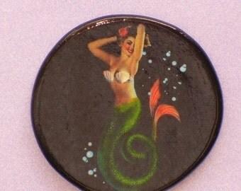 Vintage PLAYFUL MERMAID Talisman Amulet Wicca