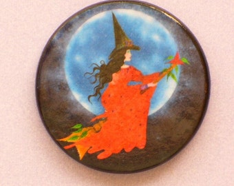 WITCH MOON Talisman Amulet Wicca Pagan Halloween