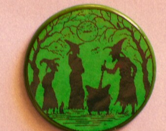 3 BREWING WITCHES Talisman Amulet Wicca Pagan
