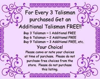 FREE TALISMAN Offer See Details