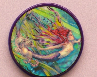 MERMAID and SEAHORSES Talisman Amulet Witch Wicca Fantasy