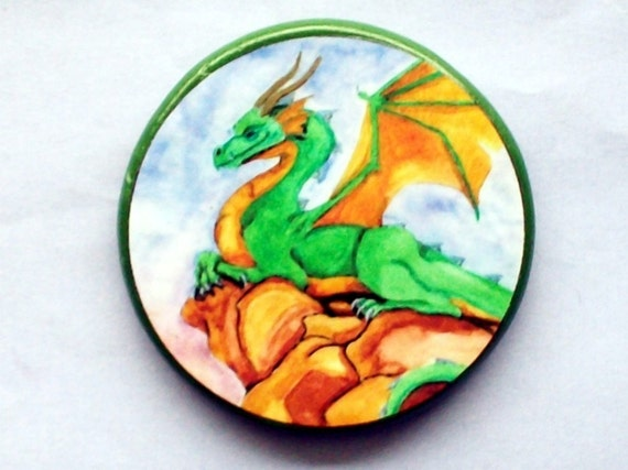 WATERCOLOR DRAGON Talisman Amulet Witch Wicca