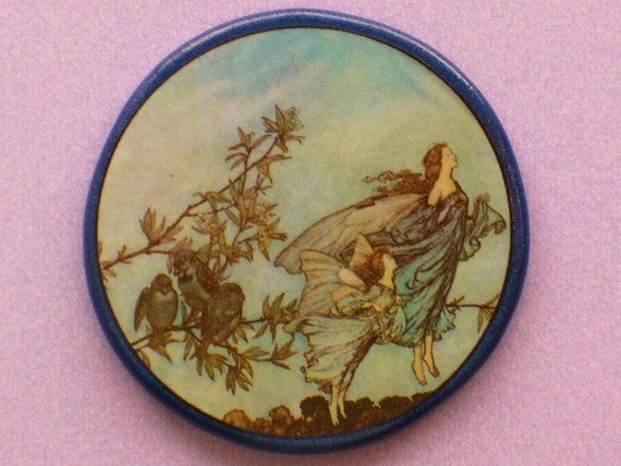 Vintage FAIRIES Tiff w/the BIRDS Talisman Amulet Witch Wicca