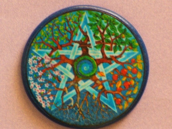 SEASONS PENTAGRAM Talisman Amulet Witch Wicca Pagan Gothic