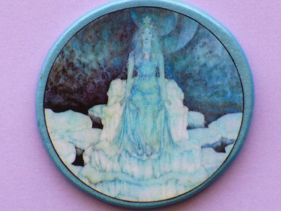 Vintage SNOW QUEEN Talisman Amulet Witch Wicca