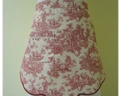 Red Toile Scalloped Dinner Apron