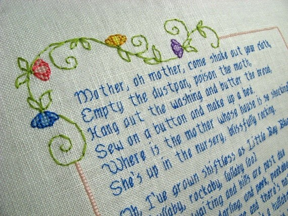 RESERVED Babies Don't Keep cross stitch - Made To Order