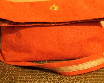 CLEARANCE: Coral Faux Suede Messenger bag