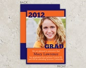 "graduation announcements photo card ""bold year"""