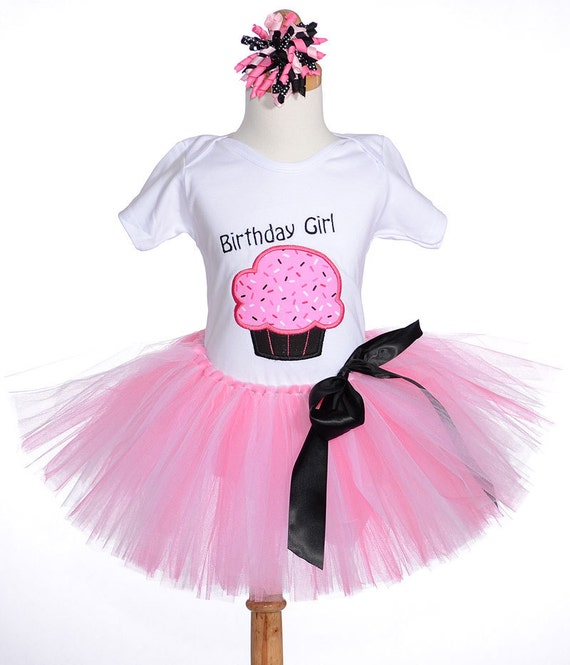 Items Similar To Girls First Birthday Outfits Cupcake