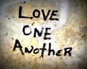 5x7 Love One Another Graffiti Fine Art Print