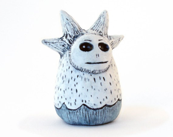 Little Clay Monster White and Blue