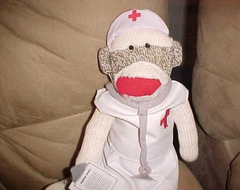 SOCK MONKEY NURSE ROCKFORD RED HEEL GENUINE CLASSIC WILL PERSONALIZE ON MONKEY
