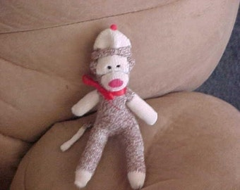 MINIATURE SOCK MONKEY NEW 5 INCH LIKE CLASSIC MONKEYS WILL PERSONALIZE FREE