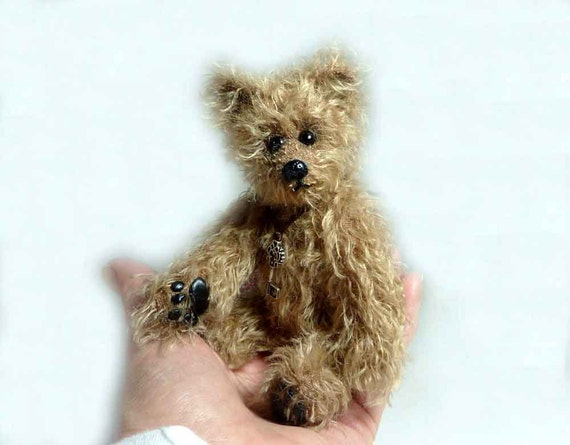 6 inch Clipper, Artist Mohair Teddy Bear by Custom Teddys
