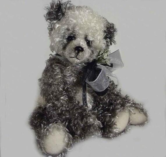 12 Inch Amanda Panda, Artist Plush Handmade Panda Bear by Custom Teddys