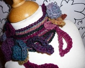 Hand Knitted and crochetted Lariat