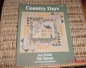 Country Days by Jan Patek - Sue Spargo Quilting Rug Hooking Pattern Book PRHG