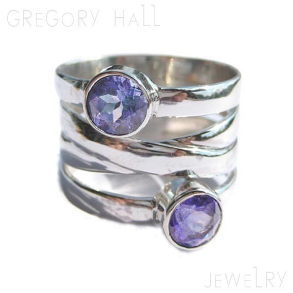 Silver Amethyst Ring Sterling Womens Rings