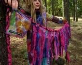 Pink Tattered Festival Wrap skirt Free size