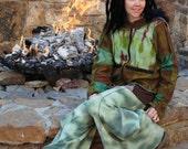 ON SALE WooDLanD Hoodie, Hand Dyed Jacket, Elven Coat