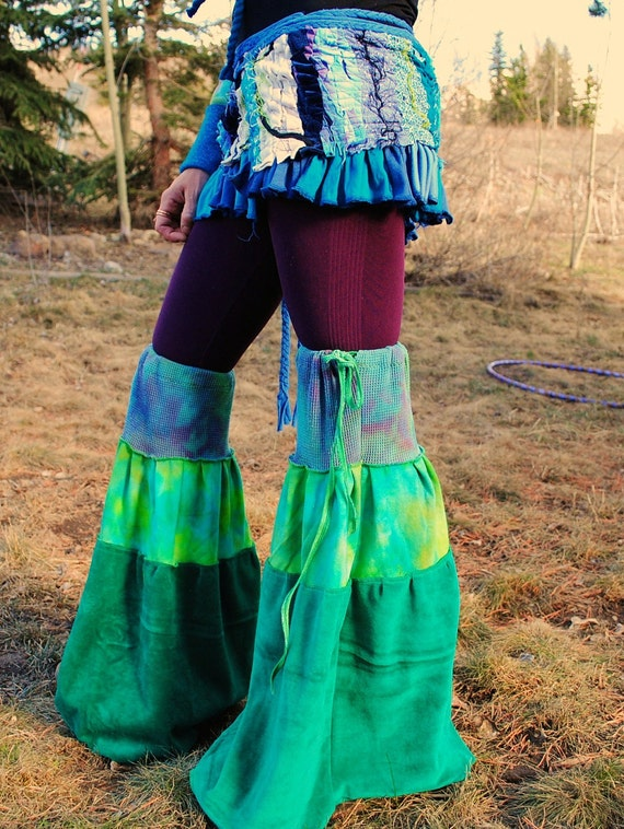 RESERVED FOR ANNE  Leg WaRmerS, Super Flared FestivaL ClothinG, Pixie Apparel
