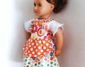 White Songbird knot doll dress