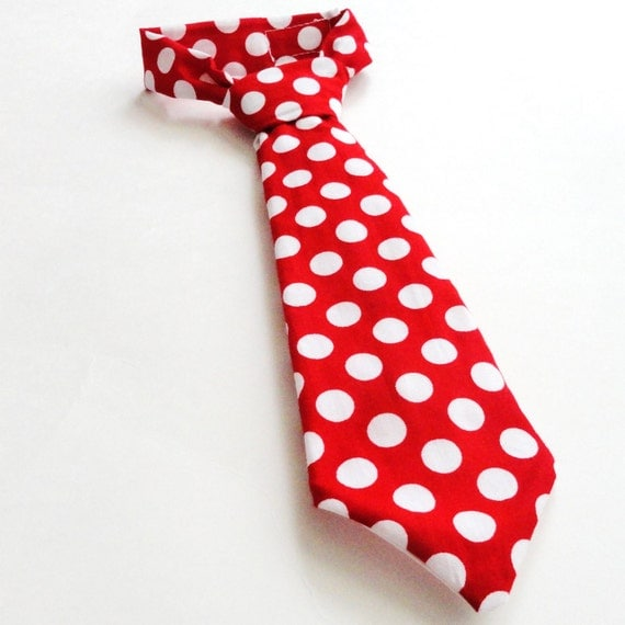 Necktie Boys Pre-tied tie Red Minnie Ta dot Infants Toddlers Young Men