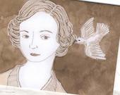 A Little Bird Told Me Card - Edwardian Downton Abbey