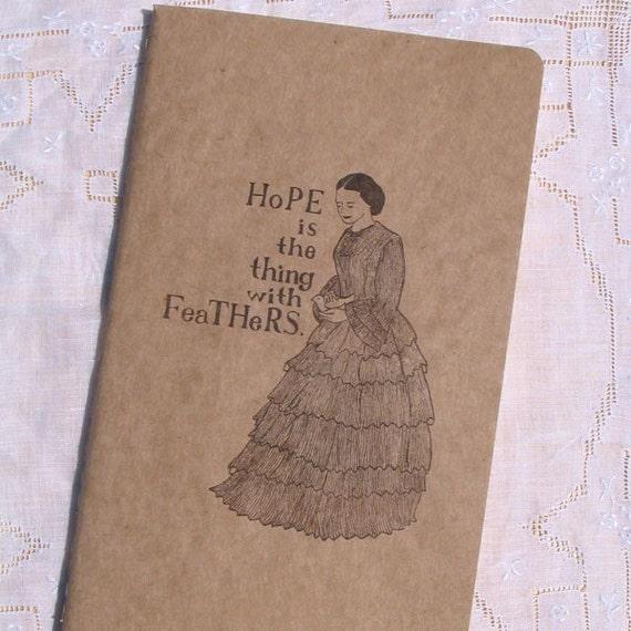 Emily Dickinson journal by Yardia - poetry, Moleskine, Victorian