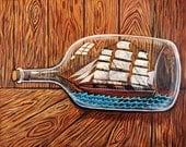 Ship In A Bottle - Print