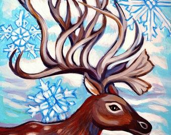 Winter Reindeer- Print